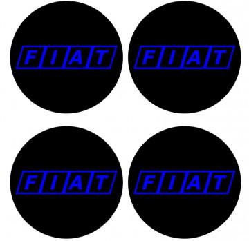 4 Autocolantes Para Centros de Jantes para Fiat