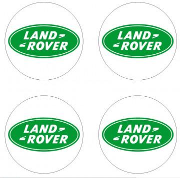 4 Autocolantes Para Centros de Jantes para LAND ROVER