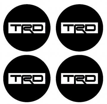 4 Autocolantes Para Centros de Jantes para TRD