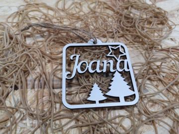 Artigo decorativo de Natal com nome - MDF