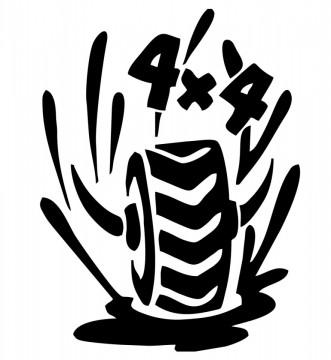 Autocolante - 4x4 Pneu