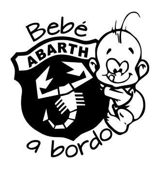 Autocolante - Bebé a bordo para Abarth