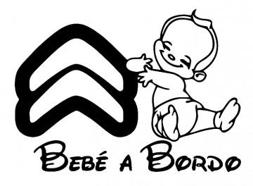 Autocolante - Bebé a bordo para Citroen