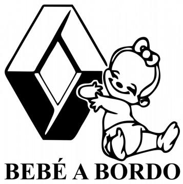 Autocolante - Bebé a bordo Renault
