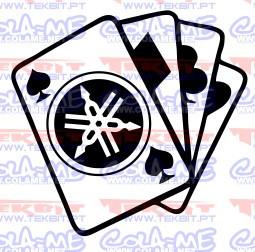 Autocolante- Cartas Yamaha