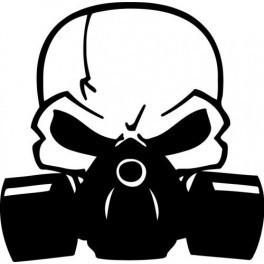 Autocolante - Caveira Máscara de Gás 2