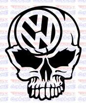 Autocolante - Caveira VW