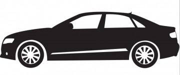 Autocolante com Audi A4