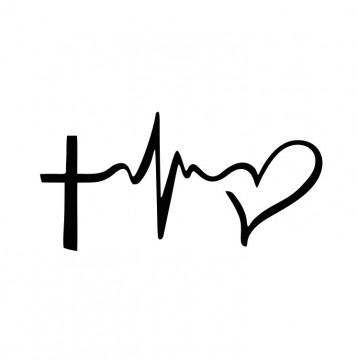Autocolante com Batimentos Jesus