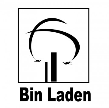 Autocolante com Bin Laden