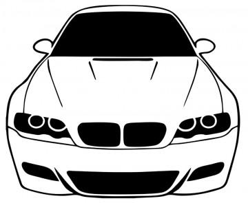 Autocolante com BMW e46