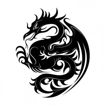 Autocolante com Dragão