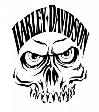 Autocolante com Harley Davison caveira