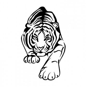 Autocolante com Tigre