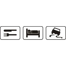 Autocolante - Comer Dormir Carro
