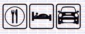 Autocolante - Comer Dormir Mini