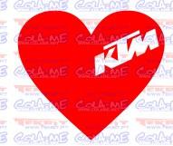 Autocolante - CORAÇÃO - KTM