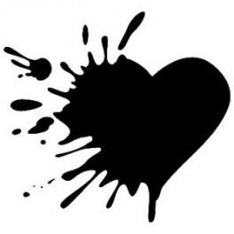 Autocolante - Coração Mancha