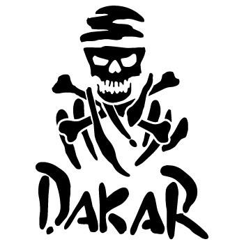 Autocolante - Dakar caveira