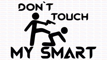 Autocolante - Don´t Touch My smart