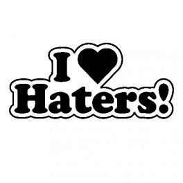Autocolante - I Love Haters