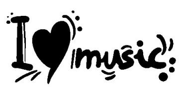 Autocolante - I love Music