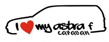 Autocolante - I Love My Astra F