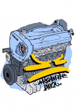 Autocolante Impresso - Motor Nissan RB26