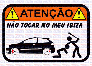 Autocolante Impresso - Não tocar no meu Ibiza