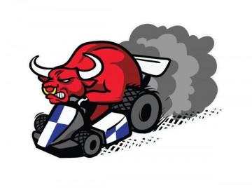 Autocolante Impresso - Touro Red bull