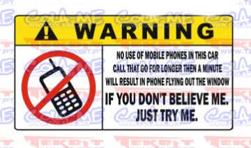 Autocolante Impresso - Warning telefone