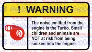 Autocolante Impresso - Warning - Turbo