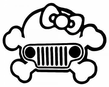 Autocolante - Jeep Caveira