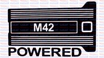 Autocolante - M42 Powered