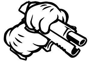 Autocolante - Mão mickey pistola