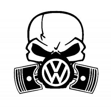 Autocolante - Máscara  de Gás VOLKSWAGEN 2