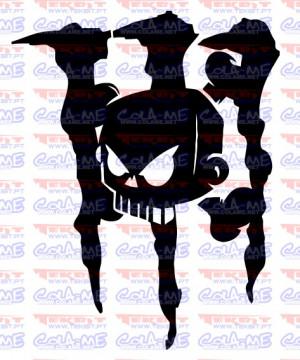 Autocolante - Monster Caveira