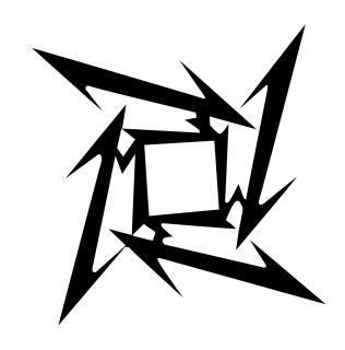 Autocolante Música - Estrela Ninja Metallica