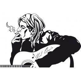 Autocolante Música - Kurt Cobain- Nirvana