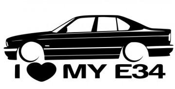 Autocolante para I love BMW E34