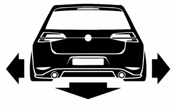 Autocolante para VW Golf 7 GTI