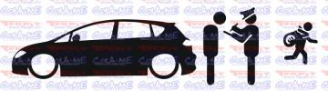 Autocolante - Policia e ladrões - Seat Leon 1P
