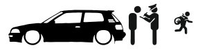 Autocolante - Policia e ladrões - Toyota Corolla