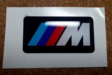 Autocolante Resinado 3D para BMW ///M - 40 x 20mm