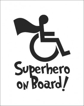 Autocolante SuperHero on Board!