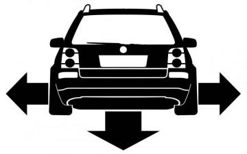 Autocolante - Volkswagen Passat B5.5 3BG - Traseira (Baixo e Largo)