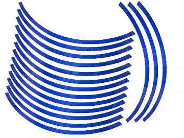 Conjunto de faixas para Jantes - 10mm - Azul