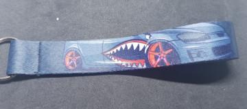 Fita Porta Chaves com Dentada Tubarão