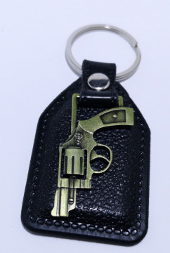 Fita porta chaves com Pistola Revolver