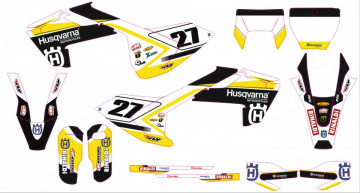 Kit Autocolantes Para Husqvarna TC FC 125 250 450 16-17